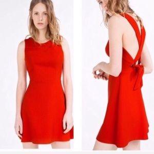Zara cross strap red mini dress